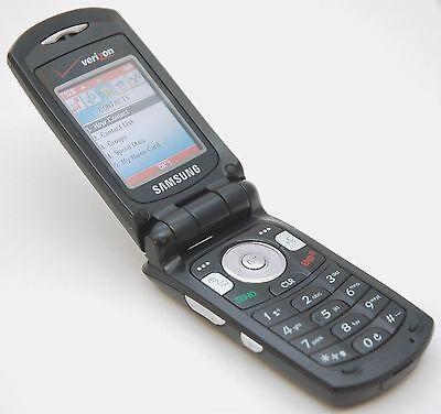 Samsung SCH-A930 Black Verizon Flip Cell Phone Bluetooth microSD 1.3MP Camera (1.3 Mp Camera Microsd)
