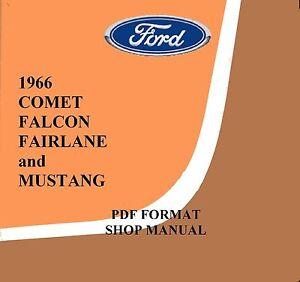 1966 mustang shop manual ebay