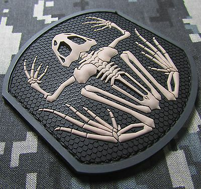 SKELETON FROG NAVY SEAL PVC TACTICAL BADGE MORALE SWAT VELCRO® BRAND PATCH