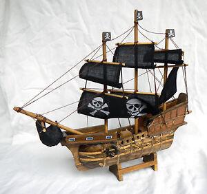 Large Wooden Pirate Ship Model - BNIB