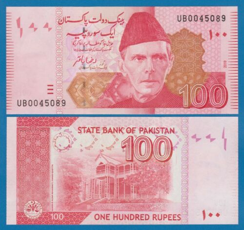 Pakistan 100 Rupees P 48n New Date 2019 UNC Low Shipping! Combine FREE! 48 n