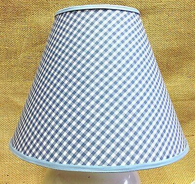 Blue White Gingham Check Checks Lamp Shade Handmade Lampshade Blue Gingham Lamp Shade
