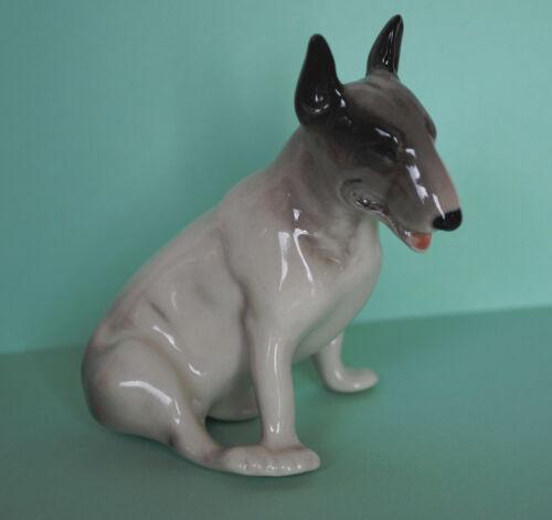 PORCELAIN Figurine DOG Bull terrier.Hand Painted