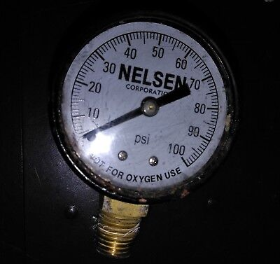 8HH50 NELSON 0-100PSI PRESSURE GAUGE FROM WELL PUMP PRESSURE TANK, GOOD COND