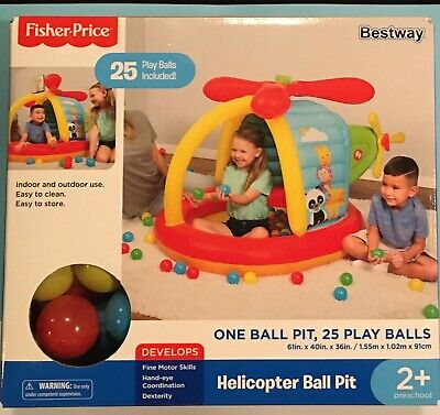 Fisher Price Helicopter Ball Pit Inflatable Bouncer Activity Center SHIPS TODAY!