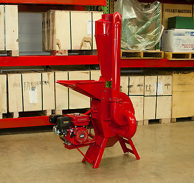 Hammer Mill Feed Grinder - 7.5hp Gasoline Engine Powered Usa In-stock Wsupport