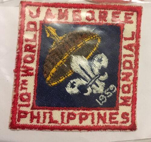 1959 WORLD JAMBOREE OFFICIAL PARTICIPANT PATCH (MINT)