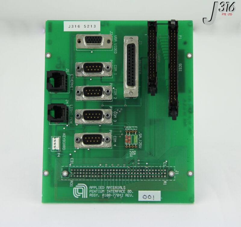 5213 Applied Materials Pcb - Pentium Interface Board 0100-77042