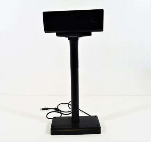 Partner Black Adjustable Customer Display Pole Model CD-7220-UN SV - SEE DESCR.