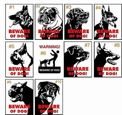 "Beware of Dog ""10 Different to Choose from"" 8"" x 12"" Aluminum Metal Sign"
