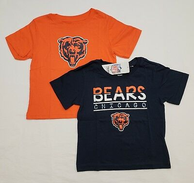 Blue Toddler T-shirt - Chicago Bears 2T Toddler Tee Shirt Combo Pack - Orange | Blue | NWT