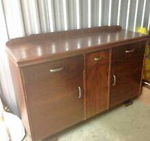 Charming Dining Suite - Vintage Sideboard + Table and Chairs Coorparoo Brisbane South East Preview