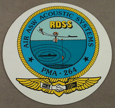 US Navy Defense Contractor Decal - Sticker Air ASW Accoustic Systems PMA - 264