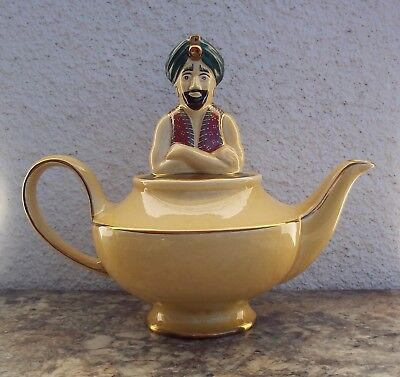 VINTAGE WADE GENIE TEAPOT MADE IN ENGLAND NEW IN BOX RARE YELLOW EXCELLENT SHAPE for sale  Hesperia