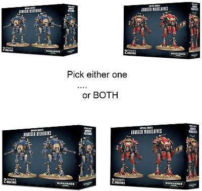 Warhammer 40K Dark Imperium Imperial Knights Armiger Helverins And Or Warglaives