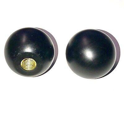 Black Phenolic Plastic Rnd Ball Knob Female 38-13 Thread Pitch Heavy 1.02 Oz
