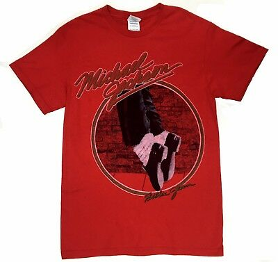 Michael Jackson BILLIE JEAN T-Shirt Red 100% Authentic & Official - Michael Jackson Red