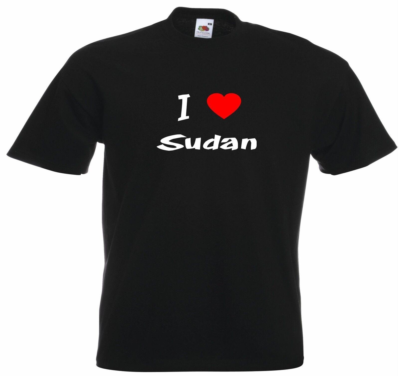 I Love Heart Sudan Kids T-Shirt