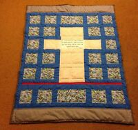 Beautiful Cross and sea glass themed QUILT