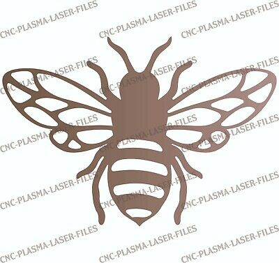 Bee Dxf Sign Plasma Laser Waterjet Router Plotter Cut Vector Cnc Metal Wood File