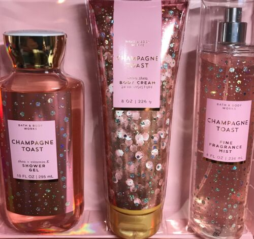 *New* CHAMPAGNE TOAST ~ 3PC GIFT SET ~ Bath & Body Works ~ FREE SHIP!