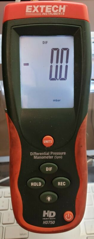 EXTECH DIFFERENTIAL PRESSURE MANOMETER HD750