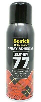 Scotch 3m Super 77 Multi Purpose Permanent Spray Adhesive Glue Paper 8 Oz.