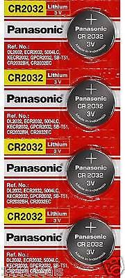 4 x SUPER FRESH Panasonic ECR2032 CR2032 Lithium Battery 3V Coin Cell Exp. 2028 comprar usado  Enviando para Brazil