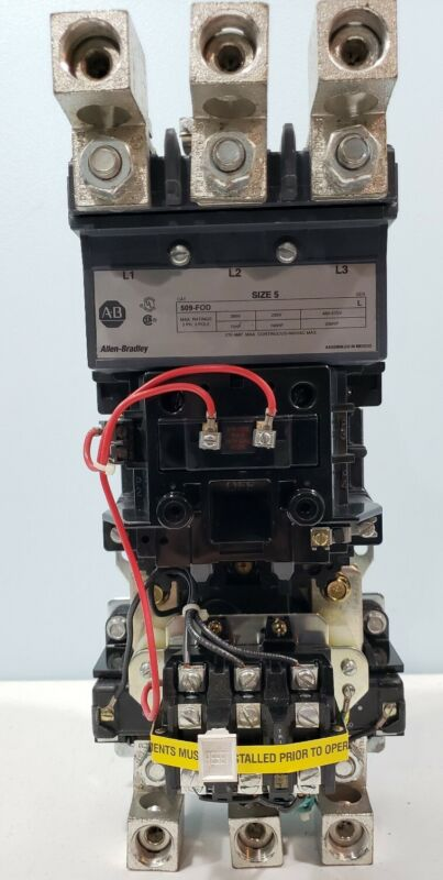 ALLEN BRADLEY 509-FOD  (NEW IN BOX)WITH OVERLOAD BLOCK AND CURRENT TRANSFORMERS