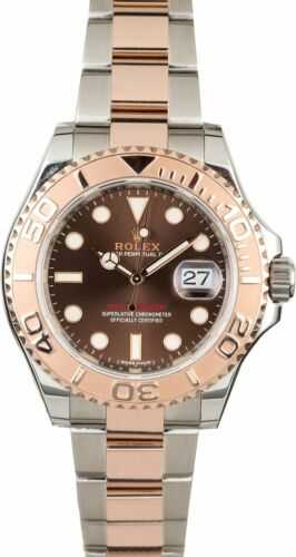Rolex Yacht-master 40 18k Everose Gold/steel Chocolate Watch Box/papers  116621