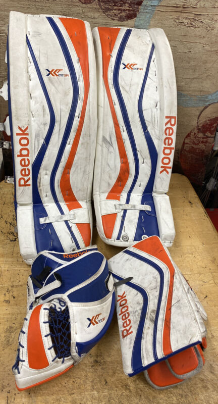 REEBOK XLT28 SR GOALIE SET LEG PADS BLOCKER CATCH GLOVE catcher HOCKEY