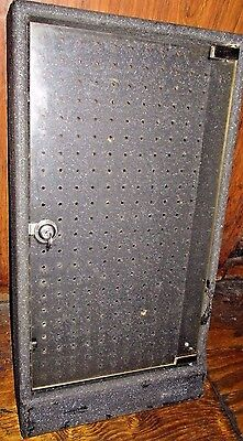 Black Heavy 10 Pound Chip Wood Base Glass Front Peg Board Back Lock Display Case