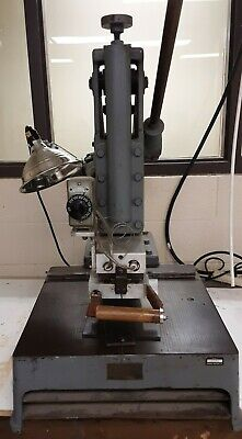 Pleger Foil Stamping Machine Press Chase Foil Bookbinding Emboss Antique