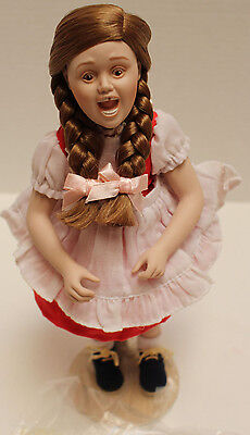 """MIB Danbury Mint Norman Rockwell """"Check Up"""" Porcelain Doll waiting Tooth Fairy"""