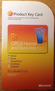 Microsoft Office 2010 Home and Business - Product Key Card