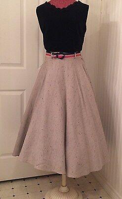vintage 1950's circle skirt, full skirt, multi-color flecks, rockabilly