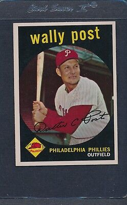 1959 Topps #398 Wally Post Phillies EX/MT *3265