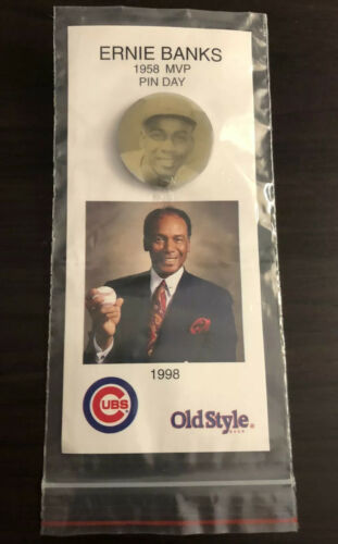 1998 Ernie Banks Chicago Cubs Giveaway 1958 MVP Pin Button D