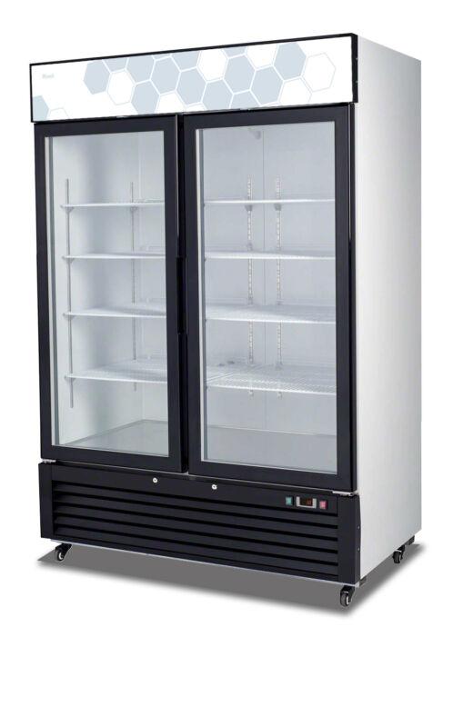 Migali C-49rm Commercial Double Glass Door Merchandiser Refrigerator