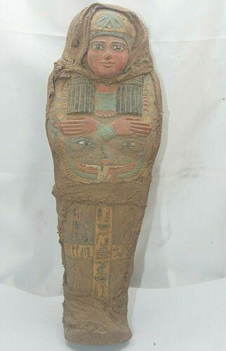 RARE ANCIENT EGYPTIAN ANTIQUE MUMMIFIED ISIS USHABTI Shabti 2500 BC