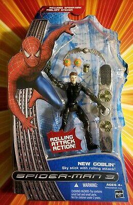 Spiderman 3 New Goblin Mask (SPIDER-MAN 3 NEW GOBLIN FIGURE ROLLING ATTACK Removable mask pumpkin)