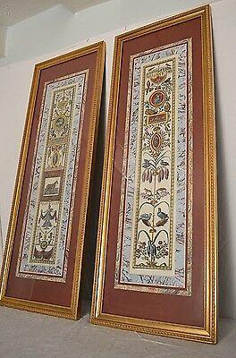 Pair JOHN RICHARD Art Framed Volpato ScItalian Litho Prints 41x15 Raffaello inv.