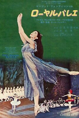 MARGOT FONTEYN The Royal Ballet 1961 Vintage Japan Movie AD 7x10 #EB/M