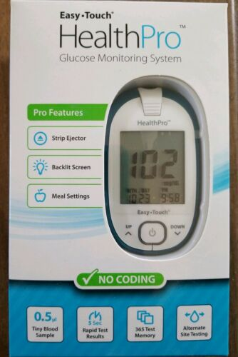 EasyTouch HealthPro Blood Glucose Meter Monitor Diabetes Tes