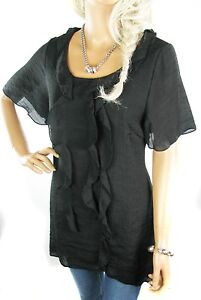 LADIES LONG TOP WOMENS SIZE 8 - 18 BLACK  PURPLE TUNIC