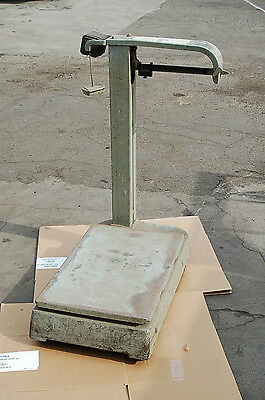 Rolling 1000lb Fairbanks-morse Portable Mechanical Platform Shipping Scale 1124a