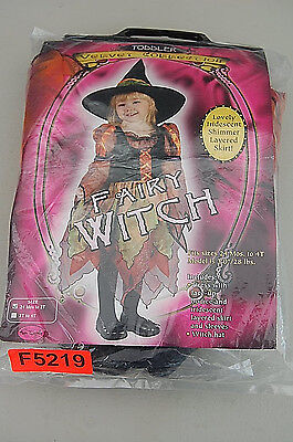 Fairy Witch Halloween Costume Toddler Girl's Size 24M - 4T F5219 - T&f Halloween