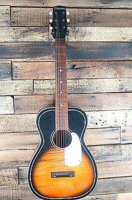 Vintage Silvertone F-64-JM Acoustic Parlor Guitar Made in USA  USED #U6596