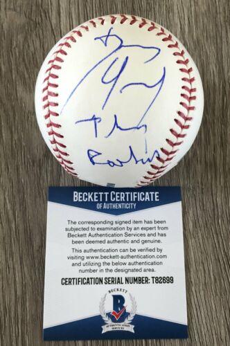 DENNIS QUAID SIGNED AUTOGRAPH MLB BASEBALL THE ROOKIE A w/EXACT PROOF & BAS COA