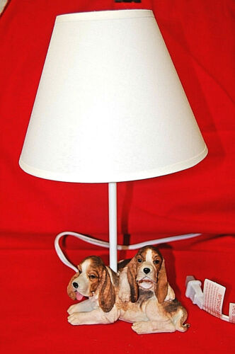 Basset Hound Table Lamp Continental Creations #1011  New in Box  M4275